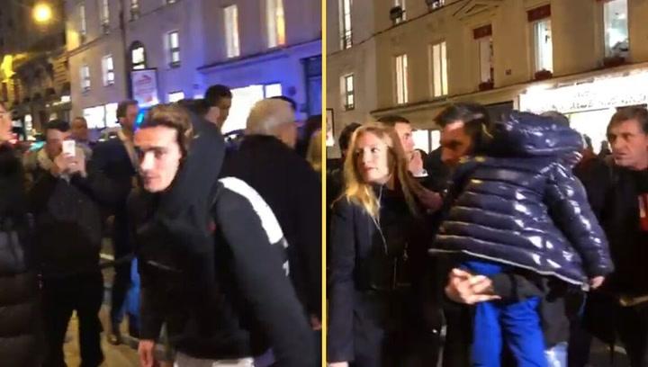 Llegada de los jugadores del Barça al Hotel Le Bristol de París