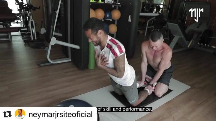 Así entrena Neymar para mantenerse en forma