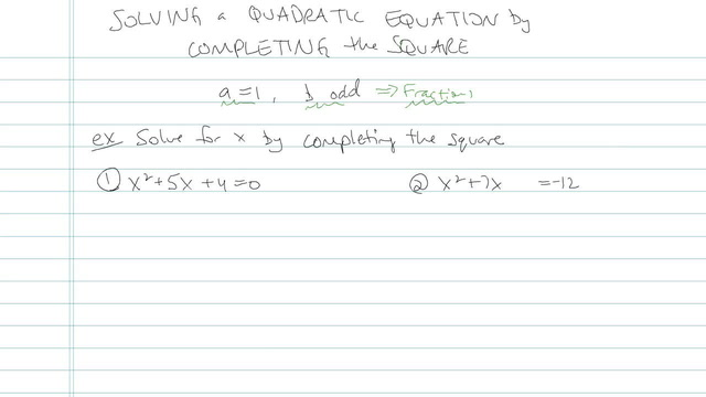 Solving a Quadratic by Completing the Square - Problem 6