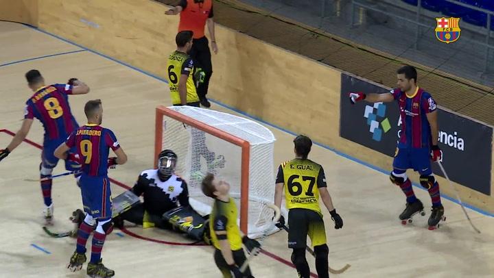 11-2: El Barça golea en su debut en el Palau a puerta cerrada