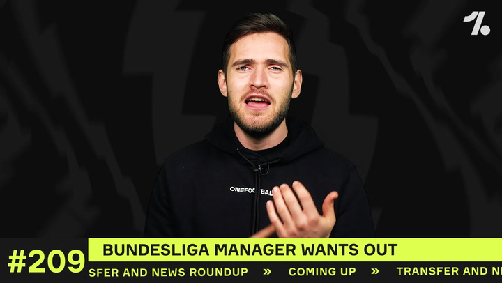 Which Bundesliga manager wants out?