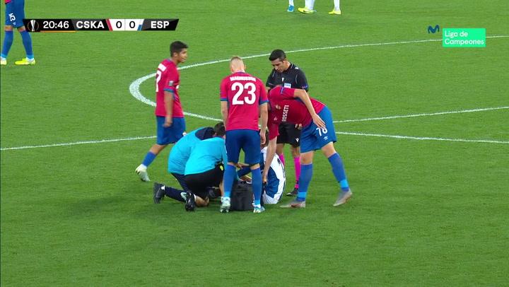 Europa League: CSKA-Espanyol. Lesión de Calleri