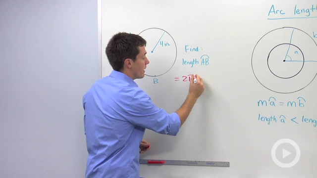 how to find arc length given radius and angle