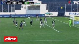 Cabezazo mortífero: Carlos Meléndez anota su primer gol con Motagua en clásico ante Marathón