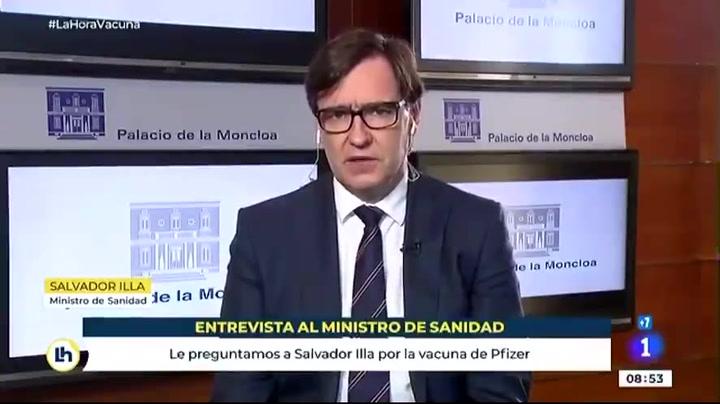 Salvador Illa calcula que llegarán a España 20 millones de dosis de la vacuna