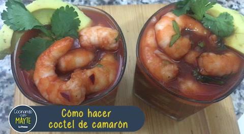 Cómo hacer coctel de camarón