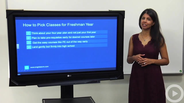 Choosing Courses for Freshman Year