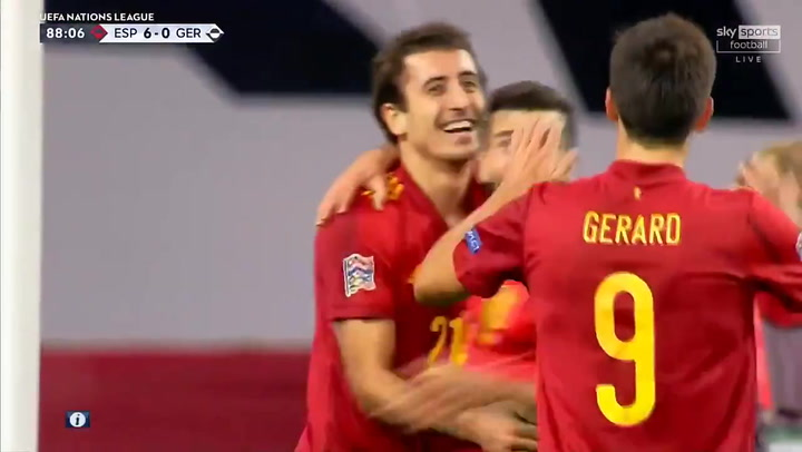 España-Alemania 6-0. Gol de Oyarzabal
