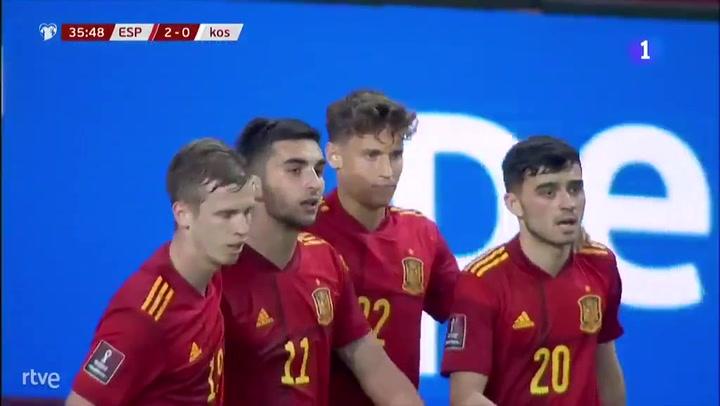 Pedri asiste a Ferran en el 2-0 de España a Kosovo