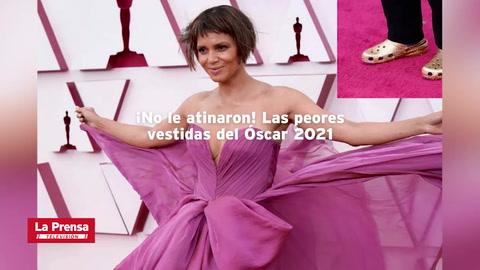 ¡No le atinaron! Las peores vestidas del Óscar 2021