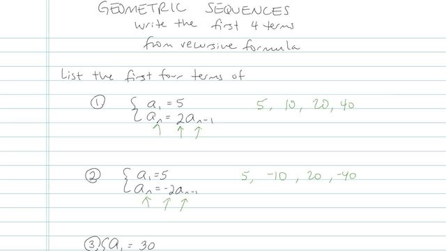 Geometric Sequences - Problem 7