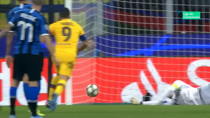 Champions League Inter - Barça. Gol de Ansu Fati (1-2)
