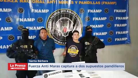 Fuerza Anti Maras captura a dos supuestos pandilleros