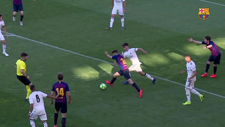 El resumen del Barça - Real Madrid del partido de ida de la Copa del Rey juvenil