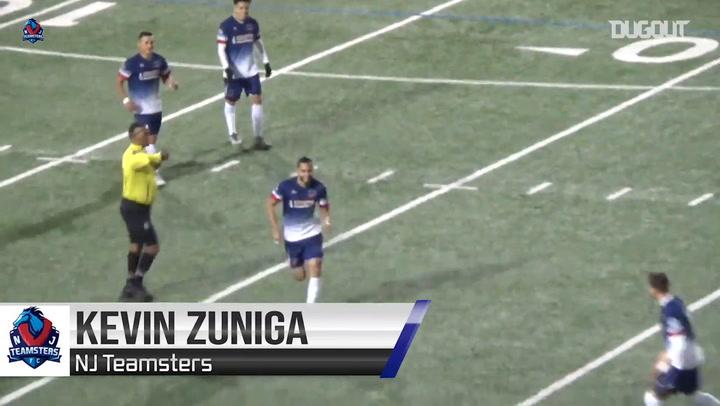 Kevin Zúñiga's free-kick goal