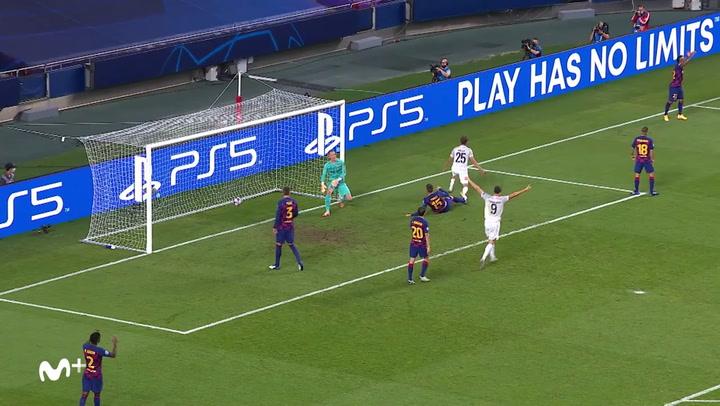 Champions League FC Barcelona-Bayern. Gol de Müller  (1-4)
