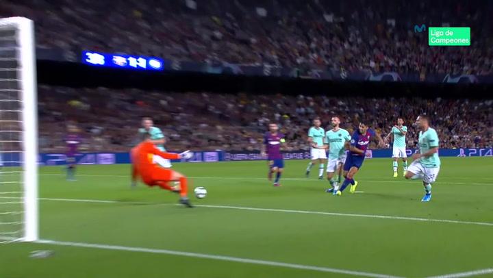 Champions League: Barça - Inter. Gol de Luis Suárez (2-1)