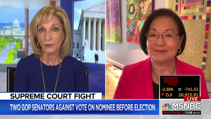 Sen. Hirono: We'll Explore Every Tool to Stop 'McConnell from Shoving This Nominee Down Our Throats'