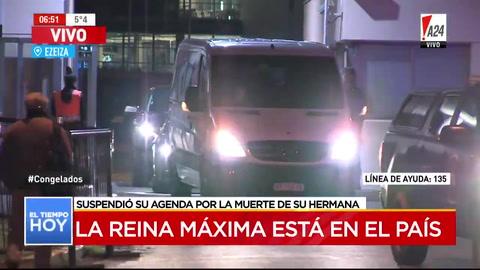 Máxima Zorrequieta llegó esta madrugada a Argentina para asistir al funeral de su hermana