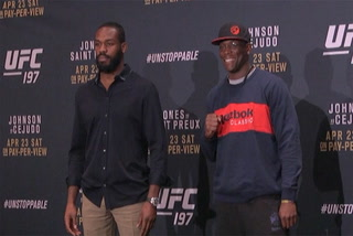 UFC 197 media day staredowns