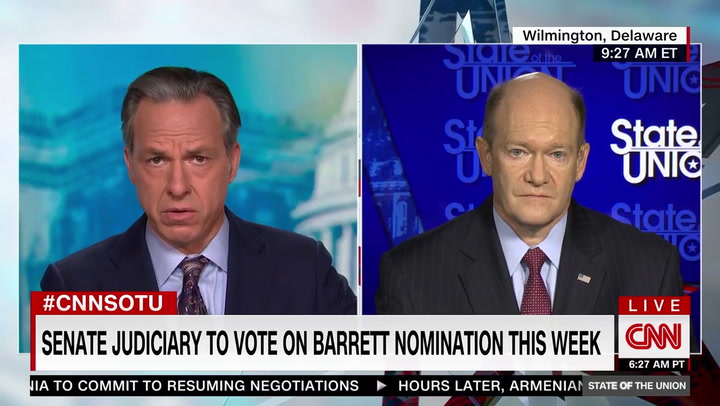 Sen. Coons: 'Yes' We Are Open to Adding Justices to SCOTUS Under Biden