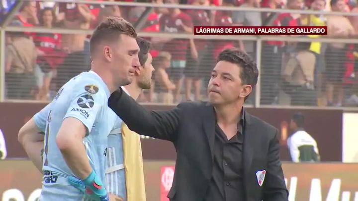 Marcelo Gallardo y sus palabras de ánimo a Franco Armani tras perder la final de la Libertadores