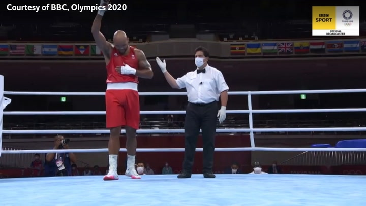 Boxer Mourad Aliev staged protest after Frazer Clarke defeat at Tokyo Olympics