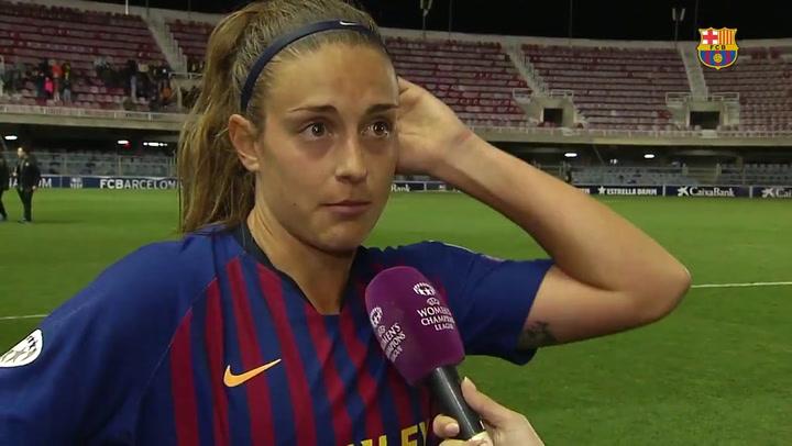 Valoraciones de las jugadoras del Barça tras la victoria en Champions