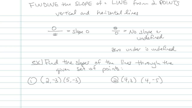 Finding the Slope of a Line from 2 Points - Problem 8