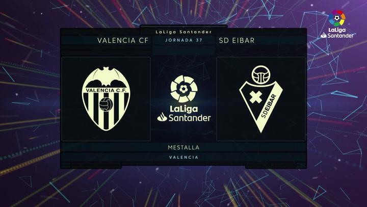 LaLiga Santander (J37): Resumen y goles del Valencia 4-1 Eibar