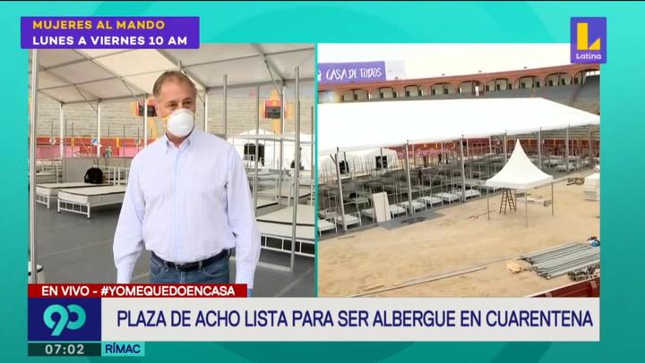 Plaza de Acho está lista para funcionar como albergue por emergencia nacional