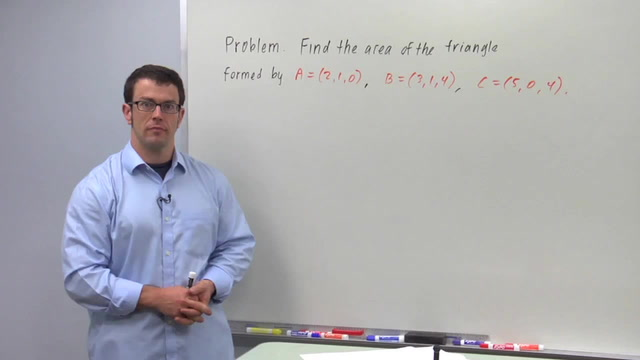 Area With the Cross Product - Problem 3