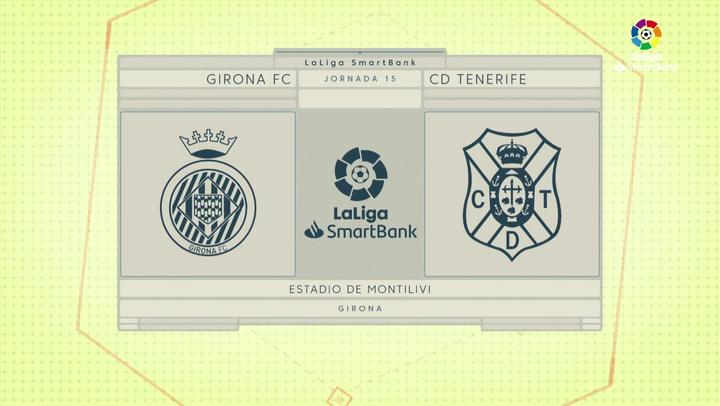 LaLiga SmartBank (J15): Resumen y gol del Girona 1-0 Tenerife