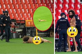 De no creer y en partido a puerta vacía: Así fue la entrada de un espontáneo desnudo en el Granada-Manchester United