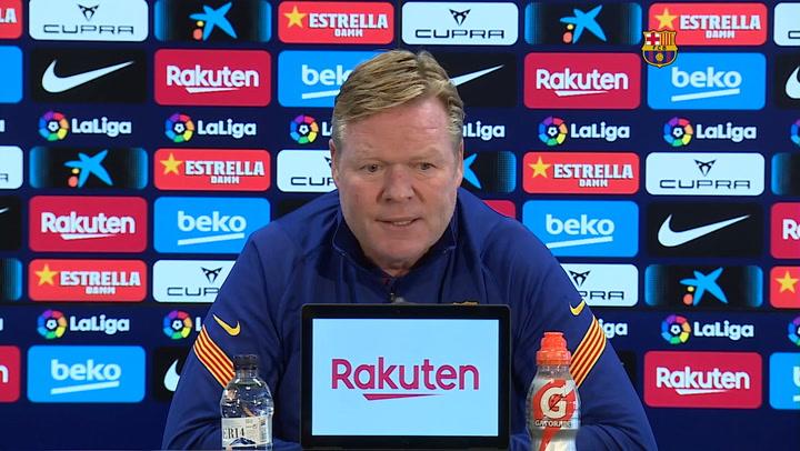 Koeman sobre el futuro de Messi y el equipo