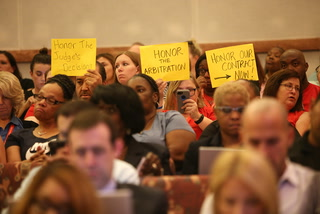 CCSD employees bring grievances to School Board meeting