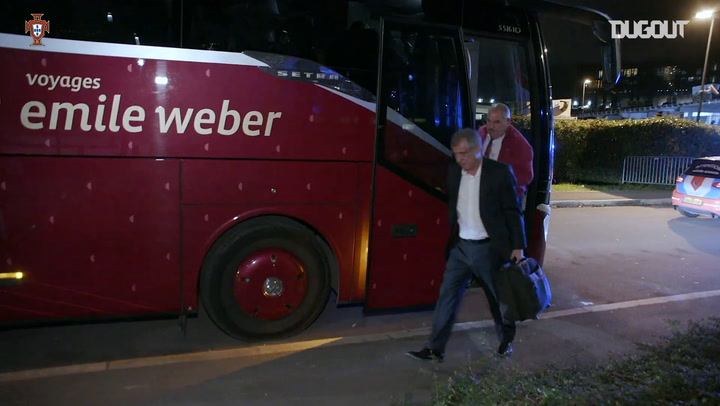 Portugal squad arrives in Luxembourg