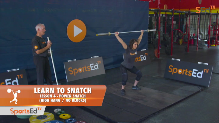 Learn To Snatch - Lesson 4 - Power Snatch, High Hang (No Blocks)