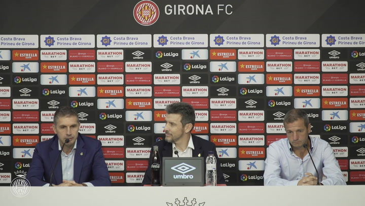 Rueda de prensa de presentación de Juan Carlos Unzué como nuevo técnico del Girona