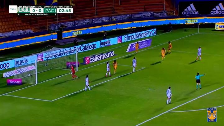 Tigres Femenil vence a Pachuca y avanza a semifinales