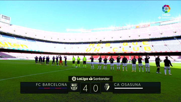 LaLiga Santander (J11): Resumen y goles del Barcelona 4-0 Osasuna