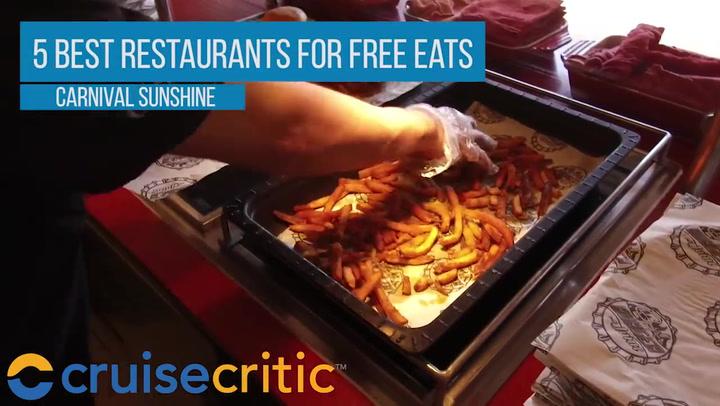 5 best restaurants to eat for free on Carnival Sunshine