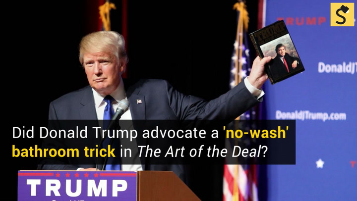 Fact check did donald trump advocate a no wash bathroom trick in a passage purportedly taken from donald trumps 1987 book the art of the deal advocates not washing hands after using the restroom as a power play fandeluxe Choice Image
