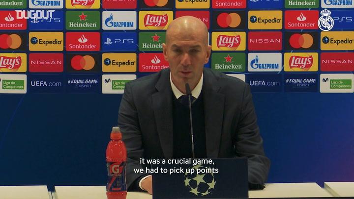 Zinedine Zidane: 'Every madridista can be proud of the team'