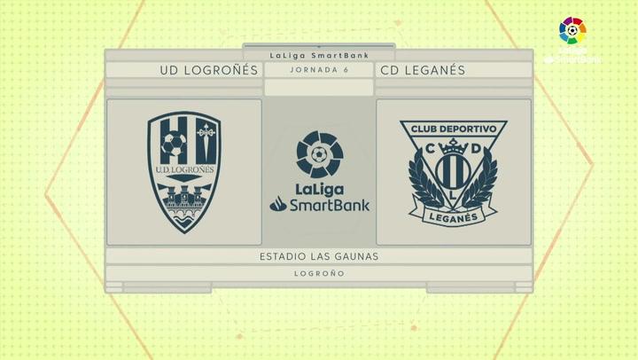 LaLiga SmartBank (J6): Resumen y gol del Logroñés 0-1 Leganés