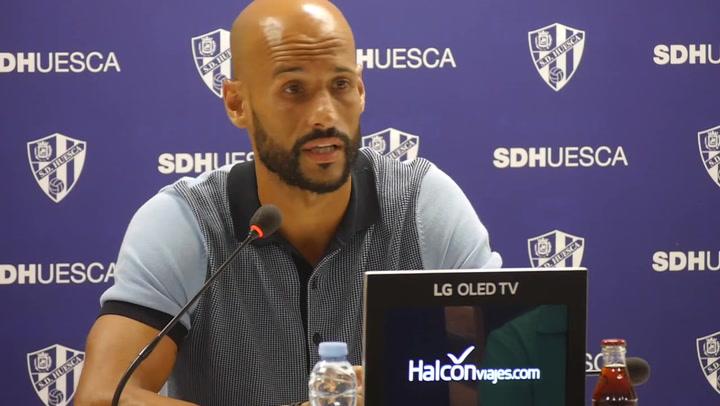 Presentación de Mikel Rico con la SD Huesca