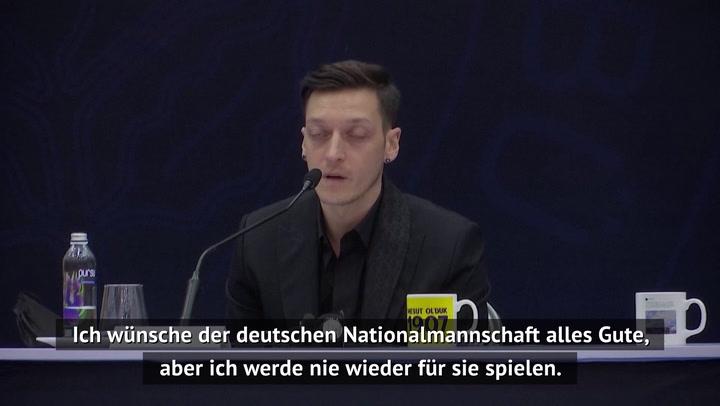 """Özil: """"Werde nie wieder für Deutschland spielen"""""""