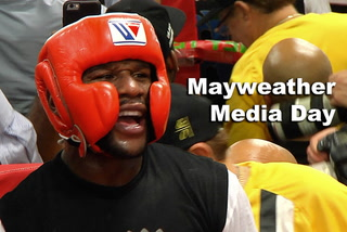 Media day at Mayweather Boxing Club