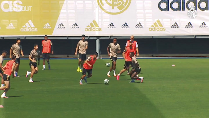 Real Madrid's final session ahead of Real Sociedad clash