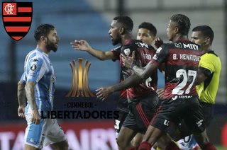 El campeón Flamengo, con anotación de 'Gabigol', se queda cortó contra Racing en un caliente partido